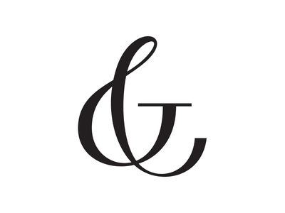 Ampersand hand-lettering lettering typography type swirly serif ampersand white black letters