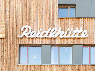 Reidlhütte Signage signage sign 3d script en garde reidlhütte marie zieger hand-lettering custom type letter lettering