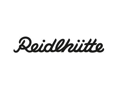 Reidlhütte Lettering signage sign script en garde reidlhütte marie zieger hand-lettering custom type letter lettering