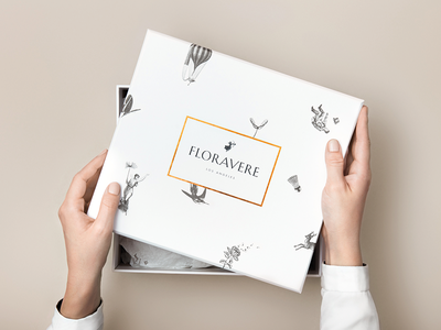 Floravere Branding print logo corporate identity corporate design branding packaging studio marie zieger luxury fashion dress bridal wedding