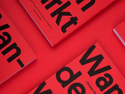 Wandern wirkt biography travel red studio marie zieger christian hlade wandern wirkt typography editorial design editorial book design book