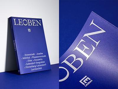 Leoben Cover iron chronicle typography editorial design leoben studio marie zieger book design cover design cover hot foil white book blue art direction
