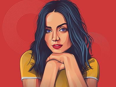 ana de armas portrait design illustrator vector vexel adobeillustrator adobe photoshop vectorvexel adobe illustrator vexel illustration vector