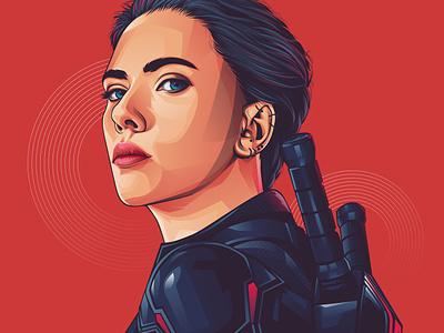 black widow art design vector vexel illustrator adobeillustrator vectorvexel adobe illustrator vexel illustration vector