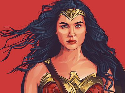 wonder women adobe photoshop vector vexel design illustrator adobeillustrator vectorvexel adobe illustrator vexel vector illustration