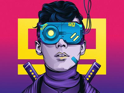 CYBERPUNK x99 vector vexel vector adobe photoshop adobe illustration art illustrations graphic design cyberpunk 2077 cyberpunk adobe illustrator illustration