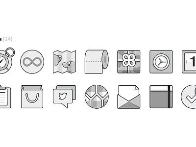 [Freebie] Monochromatic Flat UI Icons resources free flat icons flat icon flat flat ui icons icon psd freebie