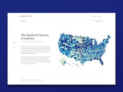 Interactive stories page