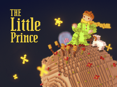 Little Prince pixel art voxel art magicavoxel pixel 3d voxel