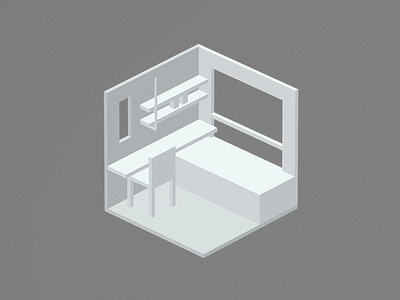Room #8 isometric blender 3d low poly room