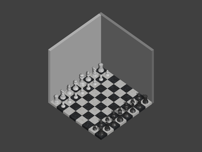 Room #10 room poly low isometric blender 3d