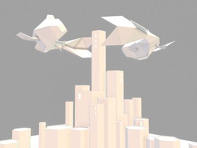 Utopia 3d blender isometric vr low poly