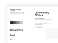 MergeCommit - Style Guide ethereum bitcoin technology blockchain design ui web website