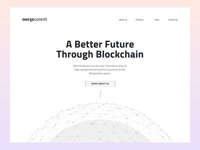 MergeCommit - Final Hero motion interaction ui website technology blockchain