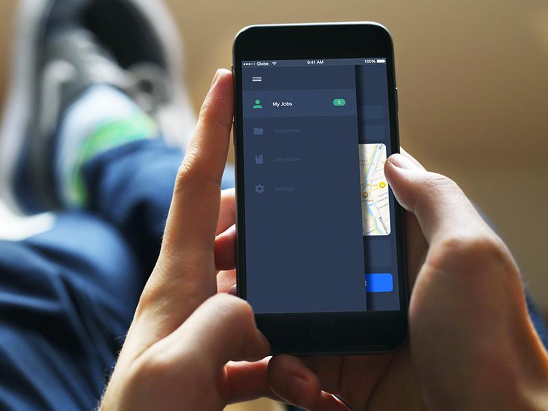 Sidebar settings green icons history work interface ios app designs ui