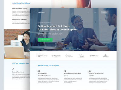 Enterprise Page 💰 solutions payment philippines fintech startup website qwikwire