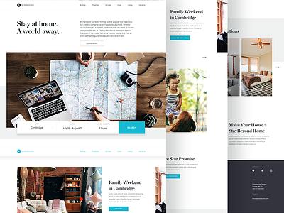 Full - Stay 🏠 concept home rental website design startup europe house