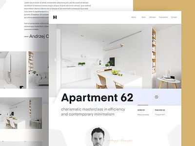 Apartment  🛋 interior minimal polish designer architecture apartment