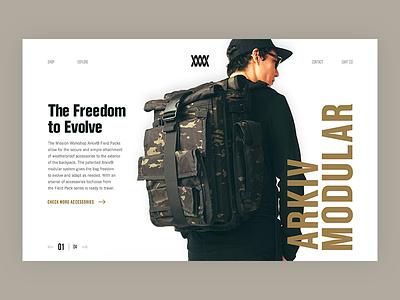 Bag 🎒 layout typography website brand bag workshop mission