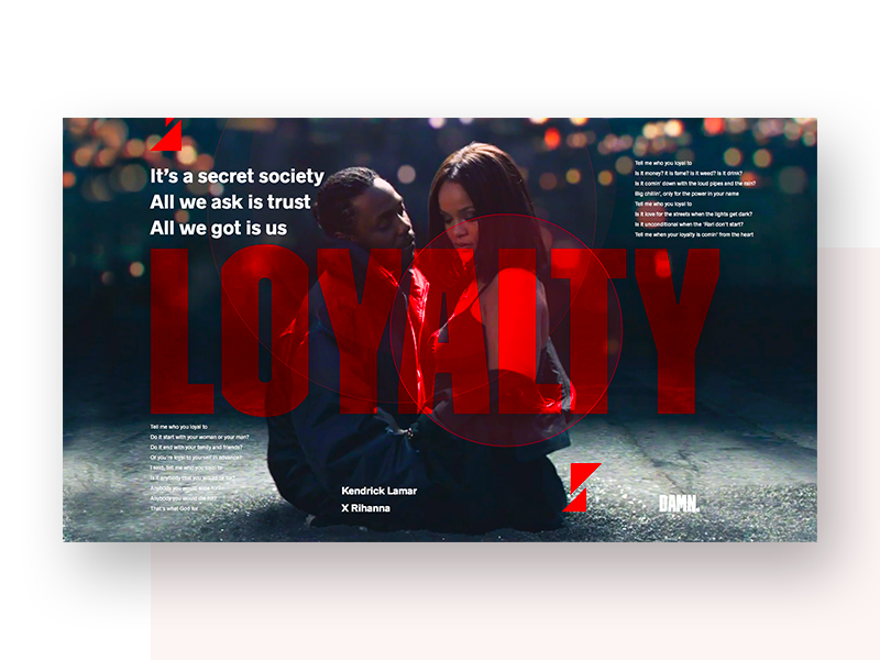 Loyalty 🔥 exploration spacing grid typography kendrick rihanna inspiration qouted hiphop