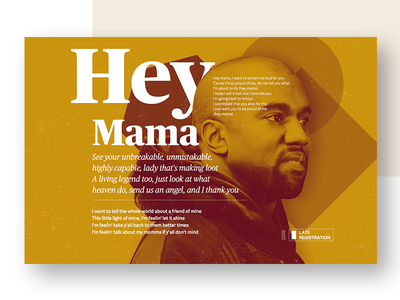 Hey Mama sans-serif serif rap typography lyrics hiphop west kanye