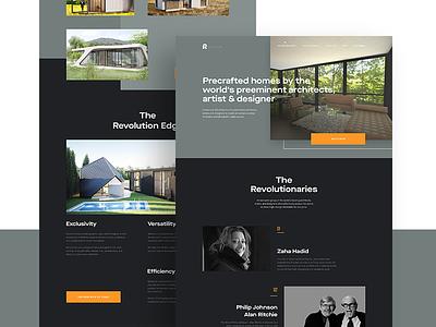 Revolution Concept typography responsive revolution homes precraft design website