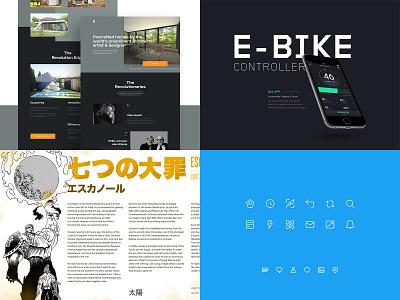 2018 web typography ui icon interface app website design