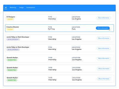 Careers #2 tabs cards landing page landing jobs webdesign careers website web ui design