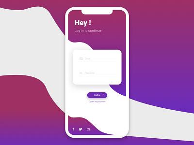 Daily UI 01 - Sign in user inteface uidesign sign in purple iphone x iphonex ios gradient design daily dailyui creative app design app