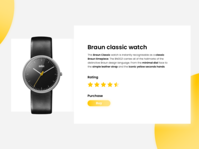 Braun classic watch