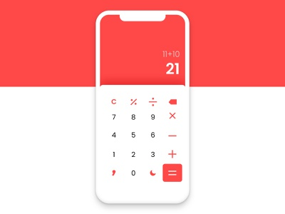 Calculator app numbers app design app ui design