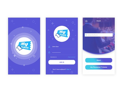 My Ticket App logo ux app ui design