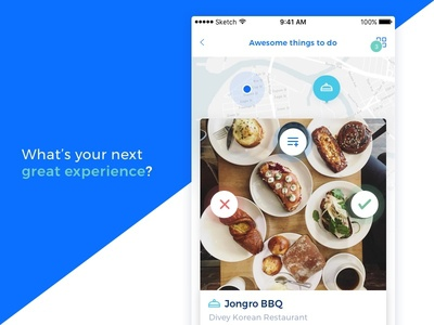 Experience Finder map mobile app restaurant ios