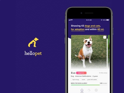 Hello Pet app design mobile design ios