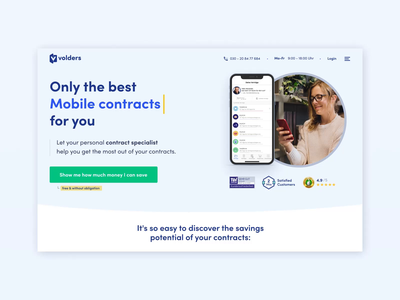 New Volders Home Page ux ui landing page ui design