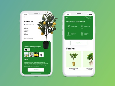Product Description - Plant Shopping Mobile App description ecommerce plant shop plant sketch design ui