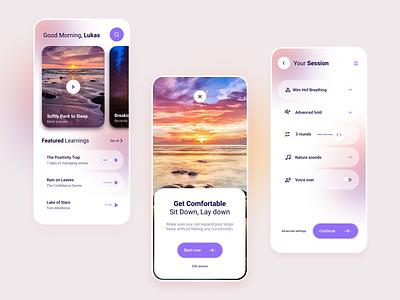 Meditation App - MVP Design ui mindfullness calm meditation mobile minimum viable product mvp
