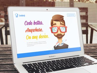 Landing Page developer illustration code ui website landing page
