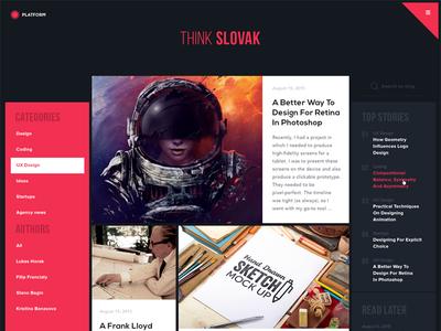 Blog Redesign redesign concept flat web design responsive grid news blog