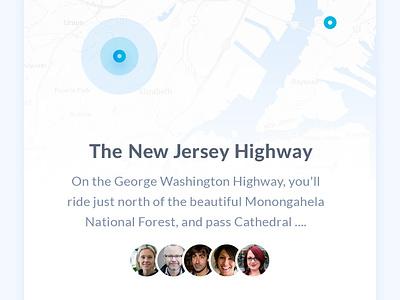 Let's have a ride design material flat light map trip startup app mobile bike