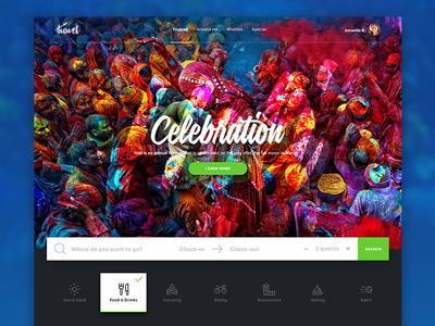 Destination Search Widget hero colors ui ux webdesign destination hotel travel widget