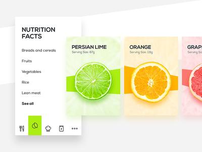 Healthy Food Mobile App food menu navigation colors fruits app mobile ui ux
