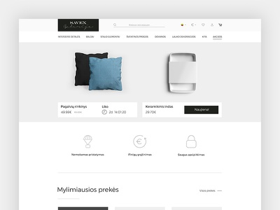 Early E-Commerce design ecommerce bright minimal clean homepage