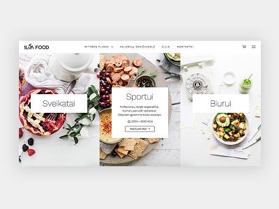 Slim Food design website clean minimal bright ecommerce healthy food