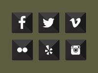 Punk Social Icons