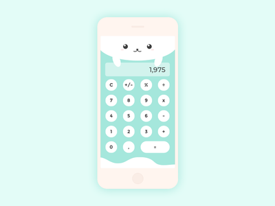 Artic seal calculator UI design cute seal prototype ux ui  ux calculator ui