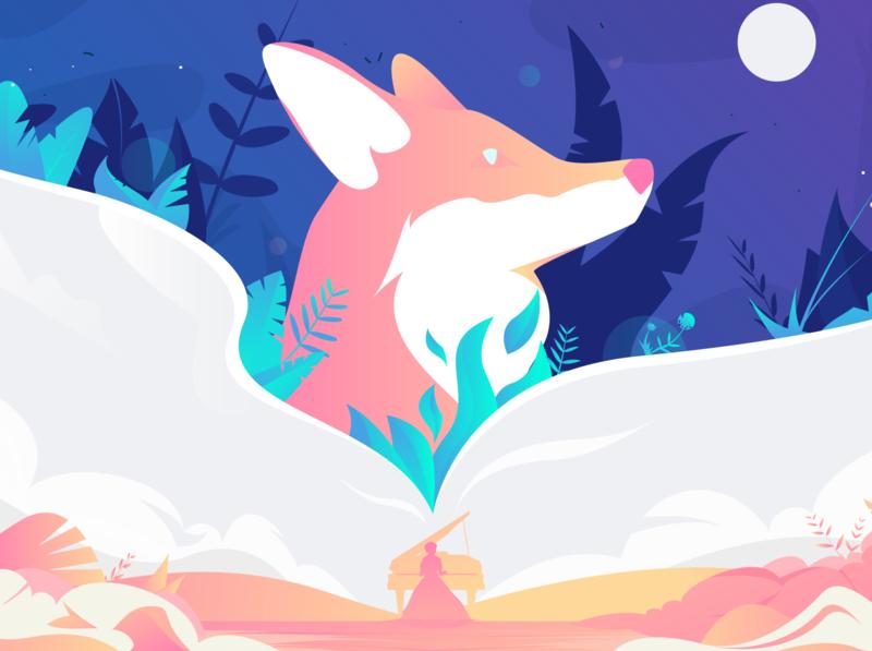 Foxy Tunes illustrator illustration fantasy concept art