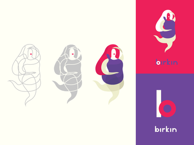 Birkin design illustrations webdesign beautiful women graphicdesign branding logo identity typography french contour