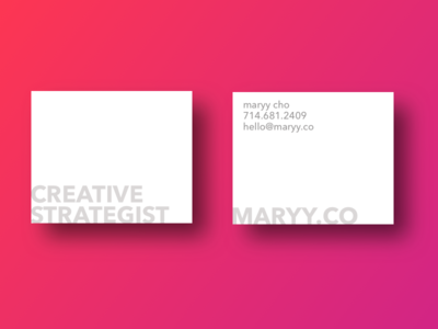 Simple / Clean Business Card