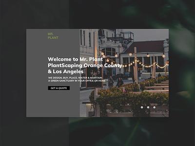 Landing page concept desktop web design homepage landing page